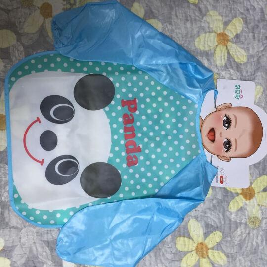 童趣熊 EVA反穿衣 四季免洗防水饭兜 儿童透明饭衣 宝宝吃饭长袖罩衣 长袖熊猫 晒单图