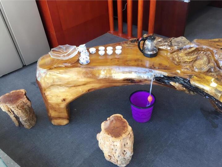 怡静轩 根雕茶几桌套装  中式实木茶几  鸡翅木功夫茶桌子 金丝楠木茶台桌 单品茶几2499起 晒单图