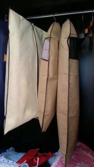 舒逸姿 防尘罩衣服罩无纺布大衣套立体防尘袋加长加厚压花防尘收纳袋 米色组合10件套(6小4中) 晒单图