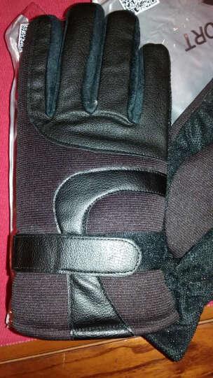 欧凡迪手套男冬保暖防滑骑行加厚加绒皮手套 咖啡 晒单图