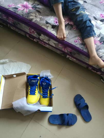 男鞋篮球鞋 大码青少年中学生训练比赛水泥地儿童跑步运动鞋 黑/黄 37 晒单图