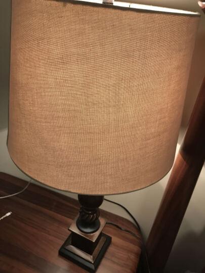 凡丁堡美式台灯卧室床头led母子地灯装饰套装 214大号+落地灯 可调光(仅台灯可调)【5W可调暖光LED】 晒单图