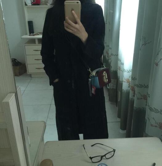 GZO毛呢大衣女 呢子大衣女2016新款羊毛呢大衣秋冬中长款韩版修身外套女装 毛呢外套女 黑色 M 晒单图