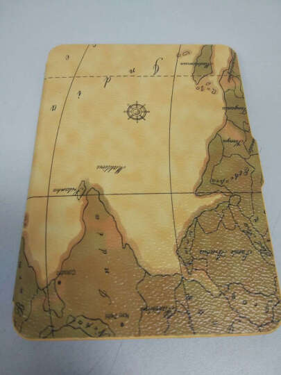 雷麦 彩绘地图 亚马逊Kindle 休眠专用保护皮套 kindle paperwhite米黄色 晒单图