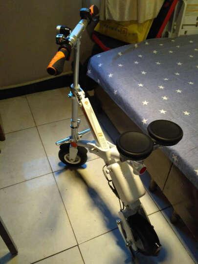 Airwheel爱尔威E6电动车 电动自行车滑板车电动折叠车代步车电瓶车锂电池男女通用 炫酷黑 晒单图