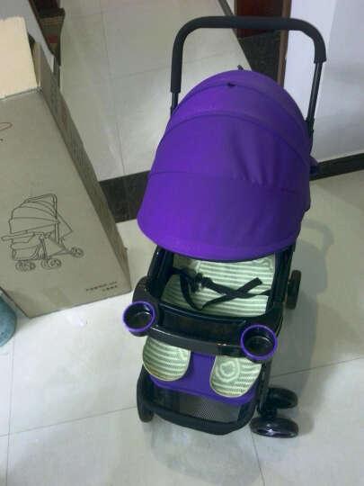 DIB 婴幼儿伞车手推车可拆卸冬夏轻便折叠宝宝车两用避震儿童伞车BB车可坐可躺小孩推车 浪漫紫 晒单图