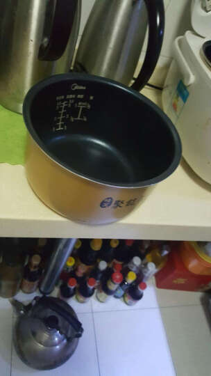 适用于美的电饭煲锅内胆原装厂3L4L5升配件黄晶蜂窝不粘锅 5L 晒单图