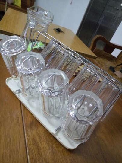 青苹果玻璃水杯茶杯套装家用9件套杯子*8+杯架托盘*1 EY2303/L9 晒单图