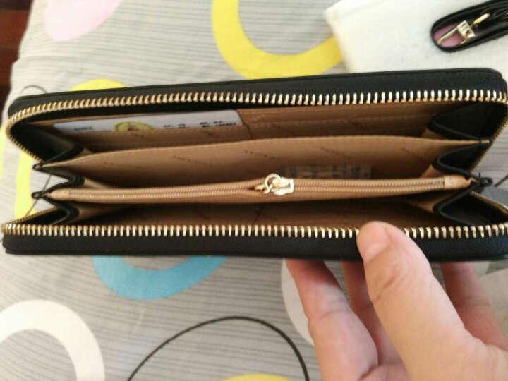 稻草人(MEXICAN)女士钱包拉链手拿包欧美时尚女式钱夹多卡位手包大容量MYH40166L-01黑色 晒单图