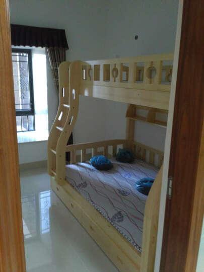 童鑫 松木实木高低床上下床子双层床 男孩女孩松木家具 1.35挂梯子母床 晒单图