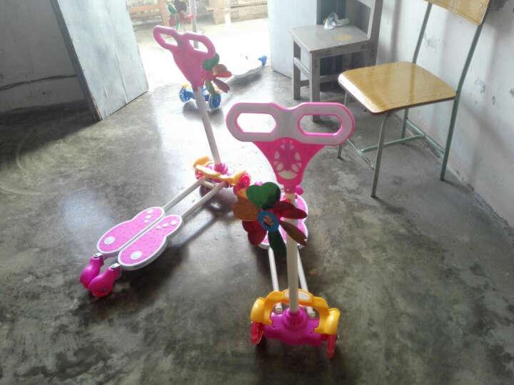 小伯乐滑板车儿童蛙式滑板车四轮闪光双脚踏板摇摆车扭扭车灯光滑行剪刀车 粉色音乐款+闪光轮 晒单图