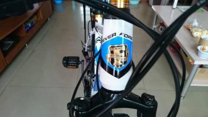 永久(FOREVER) 27速山地车自行车/铝合金26寸男女单车 镁铝合金一体轮 突破者 白兰色 一体轮 晒单图