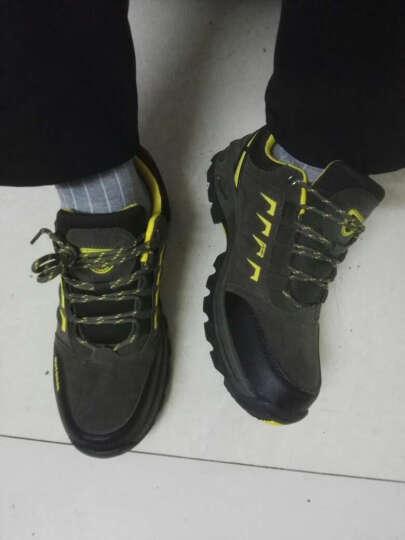 春季男鞋大码皮面情侣运动户外鞋防滑耐磨低帮休闲鞋登山鞋 徒步鞋2170119 女款紫色 37 晒单图