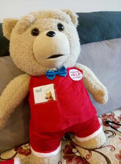 唯米 ted贱熊美国电影泰迪熊会说话的毛绒玩具抱抱熊情人节礼物 圣诞礼物 圣诞款经典版嘴动+录音+定型 晒单图
