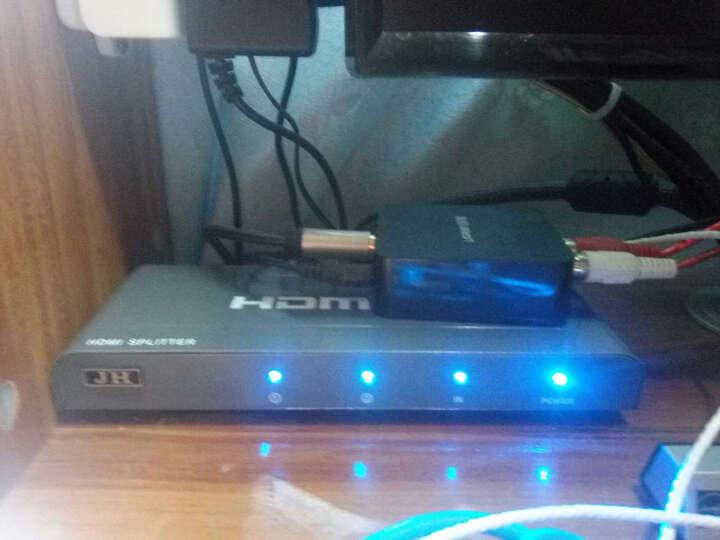 晶华(JH)3010HDMI转接器高清分配器1进2出 一进二出 一分二高清视频分屏器支持3D 电脑小米盒子连接电视 晒单图