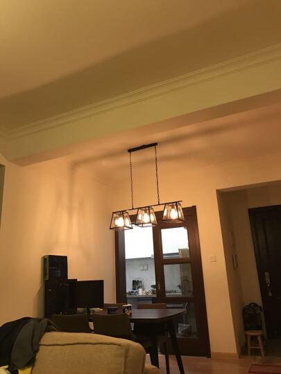 沃嘉美式铁艺玻璃箱吊灯 创意个性复古loft工业风客厅灯餐厅服装店咖啡厅灯饰 三头玻璃箱吊灯 晒单图