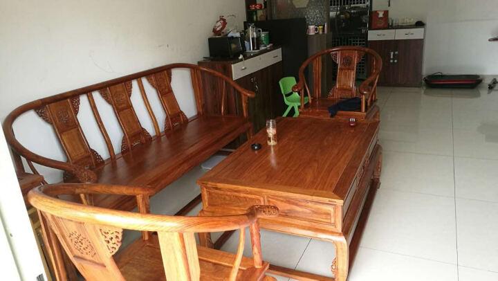 皇印 红木家具非洲花梨(学名:刺猬紫檀)沙发小户型多人单人沙发组合实木沙发皇宫2317 四件套(1+1+3沙发+茶几) 晒单图