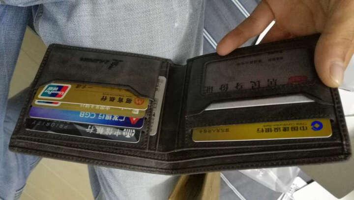 L'ALPINA阿尔皮纳 钱包男短款真皮薄潮多卡位钱夹休闲复古商务男士超薄零钱包 灰色横款 晒单图