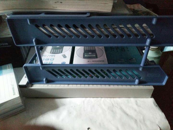 三木(SUNWOOD) FB4112 二层文件盘/文件筐/文件栏 蓝色 晒单图