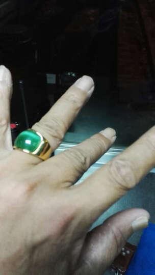 添百丽钛钢男士戒指 时尚霸气潮个性单身食指镀真金款 霸气戒指09号 晒单图
