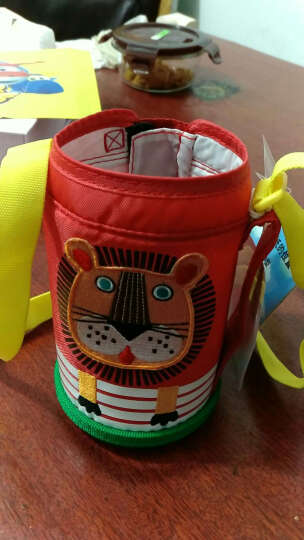 Tiger/虎牌儿童保温杯不锈钢真空学生水壶 MBJ小狮子EL(杯盖款) 晒单图