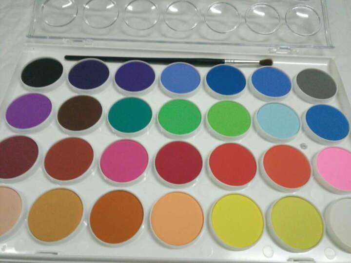 雄狮儿童粉饼透明固体水彩颜料套装  12/16/28/36色水粉画颜料填色套装 28色 送水彩笔1支 单盒 晒单图