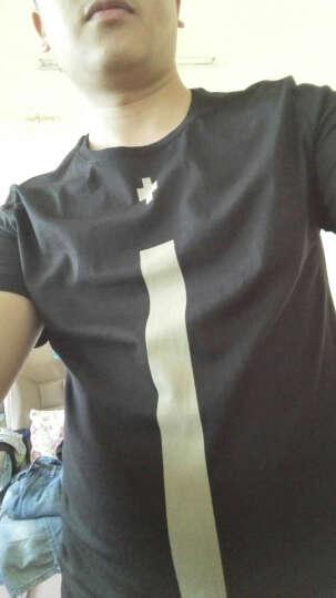 [夏]马克华菲潮牌Reshake短袖t恤 夏季男士潮牌复古十字架印花圆领t恤 099黑色 180/XL 晒单图