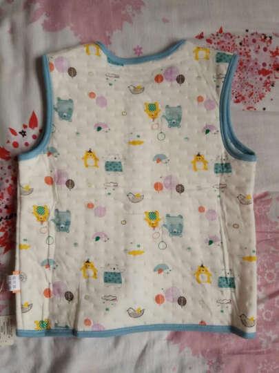 纤丝鸟(TINSINO) 纤丝鸟儿童马甲 男女童空气棉打底背心纯棉春秋马甲婴儿宝宝衣服 净面磷光黄 100 晒单图