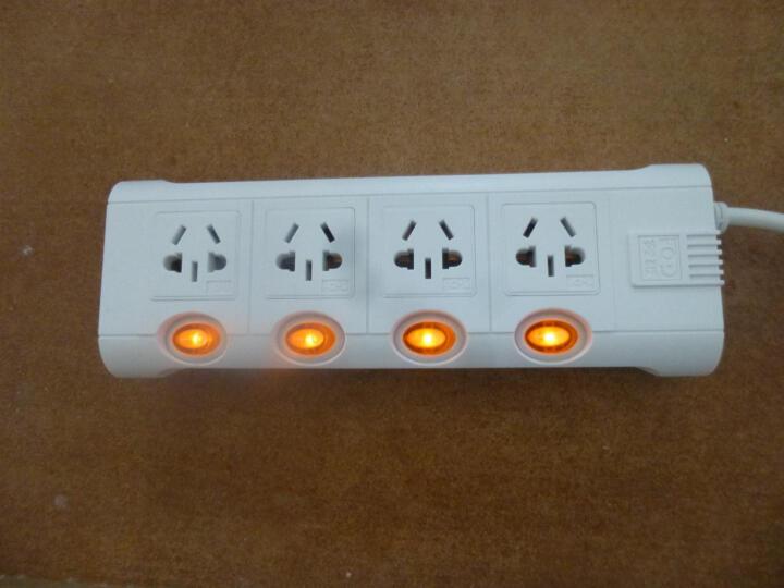 突破(TOP)4位过载自动断电拖线板/3米分控/TZ-C4K4/插座/插线板/插排 晒单图