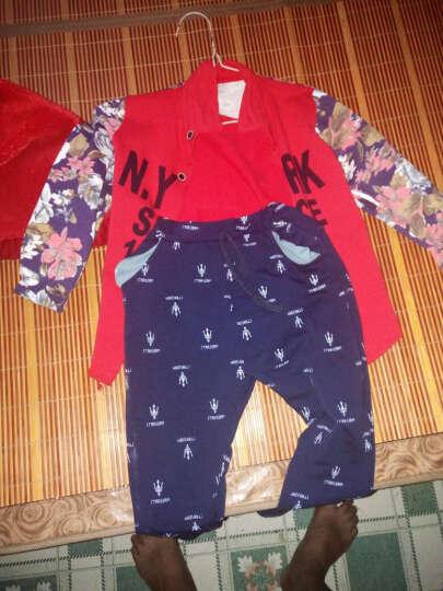 【满减】2016新款儿童衬衫套装童装春秋小童男孩英文字母LLY058YZ 红色1892 100 晒单图