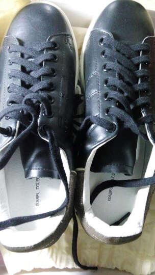 Isabel Toledo伊莎贝尔内增高小白鞋休闲运动鞋低帮板鞋女款 黑色CL0180312 39 晒单图