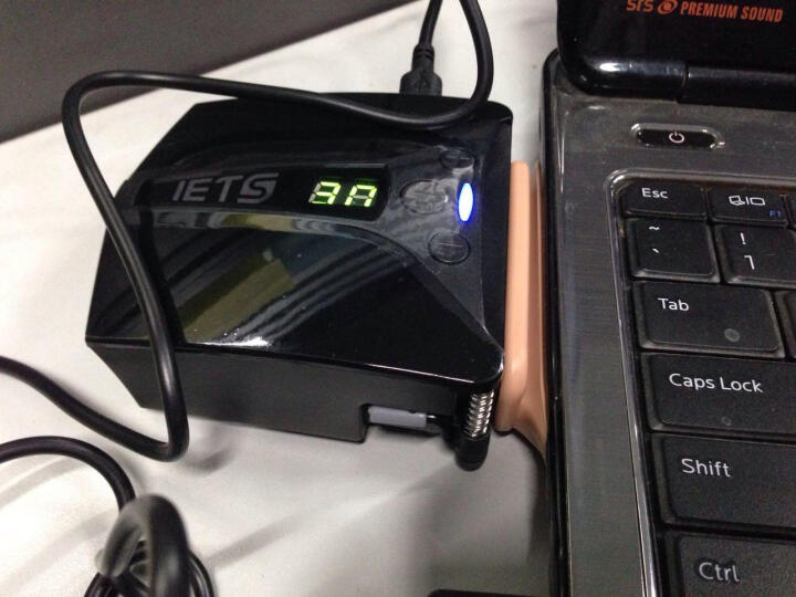 ETS五代 笔记本抽风式散热器 后吸风式侧吸风冷散热器手提电脑排风扇抽风机适用14英寸15.6 17 强力双电源供电带显示版黑色 晒单图