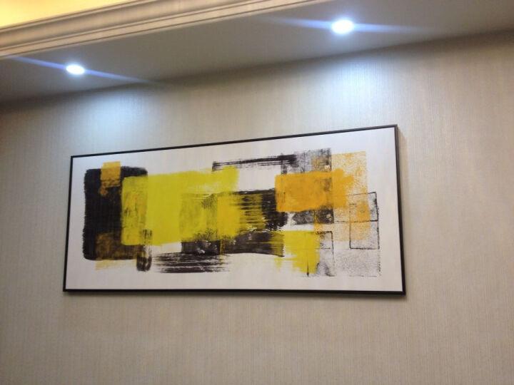 星川 客厅背景墙装饰画大幅现代抽象色块壁画餐厅个性酒店挂画形迹 A款-黑色外框 185*75cm 晒单图