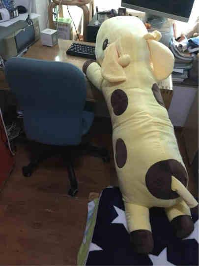 阳光猴 创意可爱长颈鹿公仔抱枕大号靠垫小鹿长抱枕毛绒玩具布娃娃玩偶生日礼物女生 紫色款趴鹿 90厘米 晒单图