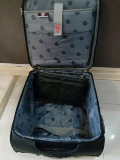 瑞士军刀拉杆箱万向轮16寸登机箱商务行李箱男士密码箱 紫色 晒单图
