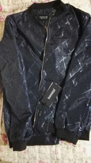 ???奇尔行 夹克男外套2017春秋季新款 韩版修身休闲时尚男士夹克上衣服潮流?? 3270黑色 XL 晒单图