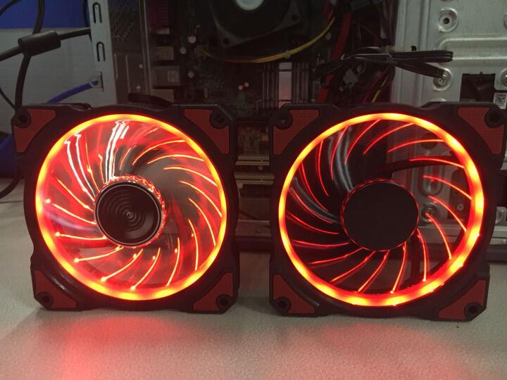 乔思伯(JONSBO)FR-101P-炫光红 12CM机箱风扇(引擎涡轮扇叶/红色LED/PWM温控/散热器风扇/主板4PIN接口) 晒单图