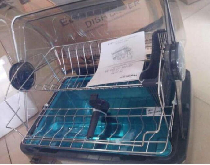 纳丽雅(Naliya) 家用迷你消毒柜 碗筷烘干机 消毒碗柜 餐具保洁柜厨房烘碗机小型 26升+质保卡 适合2-3人 晒单图