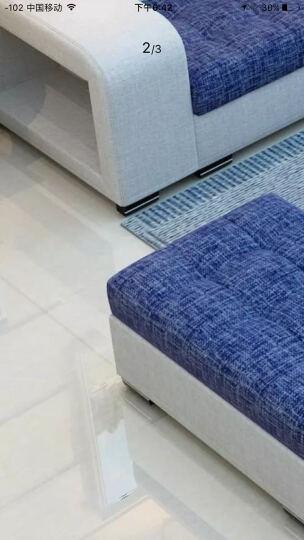 迪玛利亚 简约现代布艺沙发贵妃组合 中小户型客厅可拆洗沙发 浅灰+天蓝&麻布 双+单+贵3米豪华版送地毯 晒单图