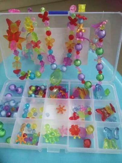 女孩DIY串珠玩具3-6岁手工制作手链项链 儿童益智 女童穿珠子弱视训练 小孩圣诞礼物7-8岁水凝珠 15格水晶款约270粒 晒单图