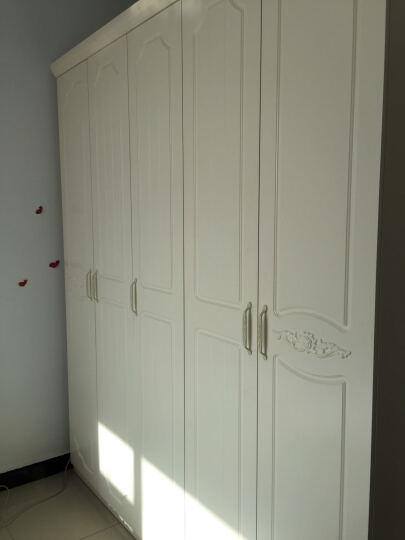全友(QUANU) 全友家私 大衣柜 韩式田园衣柜储物柜子卧室家具木质大衣柜120610 四门衣柜 晒单图
