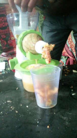【闪电发货】多功能手动榨汁机家用婴儿手摇原汁机果汁机水果蔬菜压榨机简器迷你水果冰淇淋机 方底中国红 榨汁+做冰淇淋 晒单图