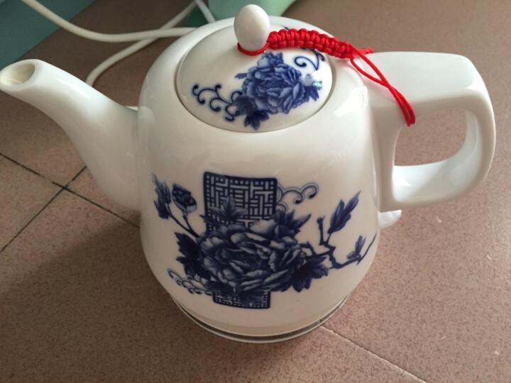 一家欣(yijiaxin)电热水壶景德镇 陶瓷烧水茶壶自动断电水壶淡泊明志1LFQJ-1076 淡泊明志 晒单图