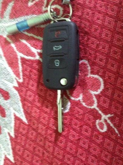 轩之梦真皮手缝汽车钥匙套钥匙扣钥匙链汽车用品适用于帕萨特途观朗逸速腾明锐ix35 硅胶-苹果绿+绿白熊 晒单图