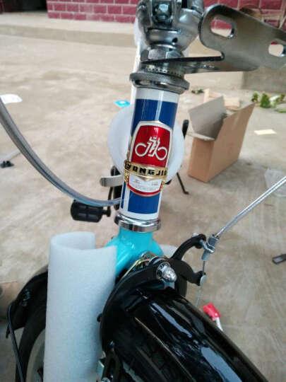 永久(FOREVER) 永久自行车女折叠减震轻便20寸自行车单速休闲学生成人儿童都可以骑行 白蓝色 晒单图