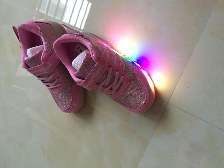 爱莫格(AIMOGE) 秋冬款暴走鞋女童鞋男童儿童 LED带灯款爆走鞋轮子鞋 新款轻款MD双轮黑色 35/约22.5cm 晒单图