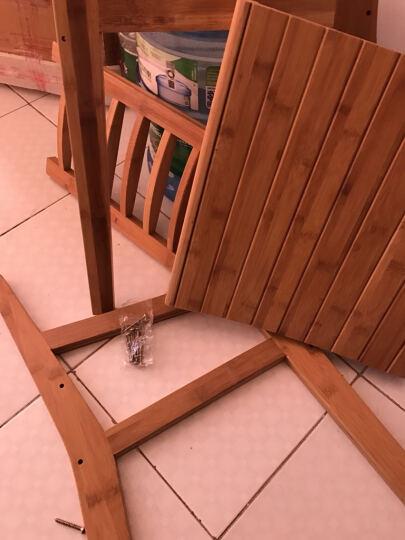 竹咏汇 靠背椅 折叠椅 休闲椅 逍遥椅 餐椅坐椅躺椅板凳实木竹制办公会议复古户外休息椅子 休闲靠背椅椅 晒单图