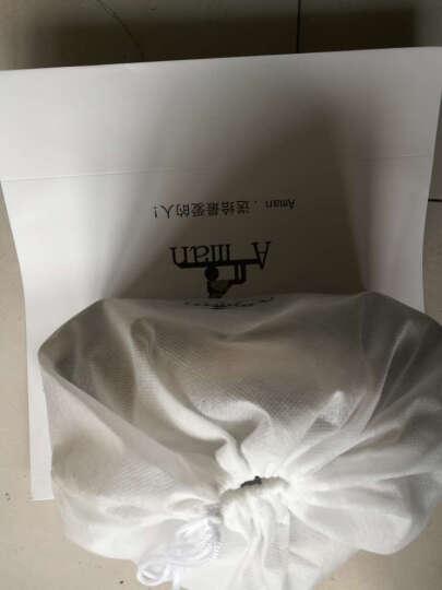Aman女包手提包 欧美时尚百搭优雅妈妈包 斜挎手提手拎包 6118 酒红色小字母  小号 晒单图