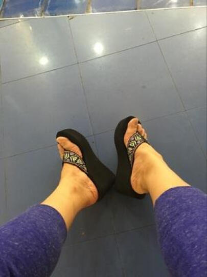 宝人(Boree)拖鞋女坡跟夏新款人字拖高跟凉拖鞋民族风防滑松糕外穿 棕色跟高8厘米 36 晒单图