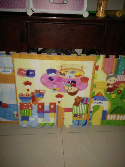 蔓葆 儿童宝宝拼图游戏爬行垫毯爬爬垫乐扣地垫泡沫拼接环保加厚 森林精灵6片装边条款 晒单图